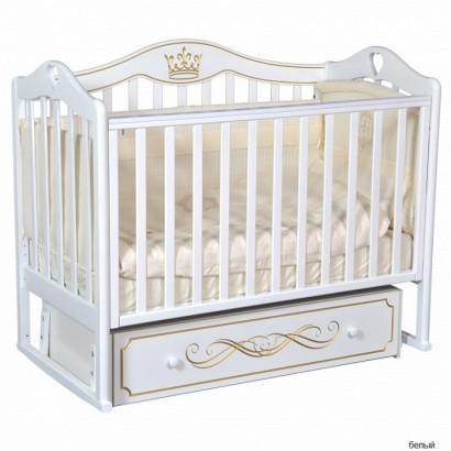 Детская кроватка Кедр Karolina 9 с универсальным маятником и ящиком