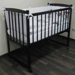 Детская кроватка Массив Беби-1, колесо-качалка