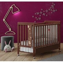 Кроватка 120x60 Micuna Kangaroo Chocolate + Матрас полиуретановый СН-620