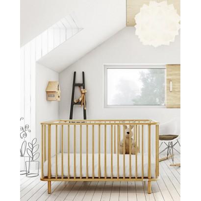 Кроватка 140x70 Micuna Life Relax: рейки Natural, основание Natural