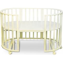 Круглая кроватка трансформер Forest Lavatera 6 в 1 (колесо)