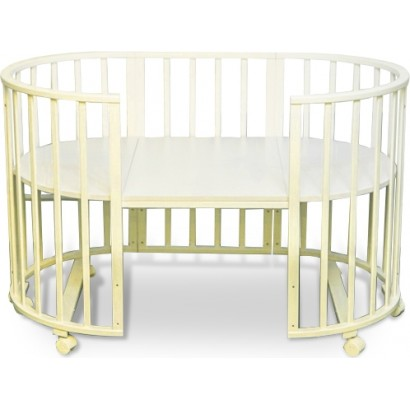 Круглая кроватка трансформер Delizia Avorio 8 в 1