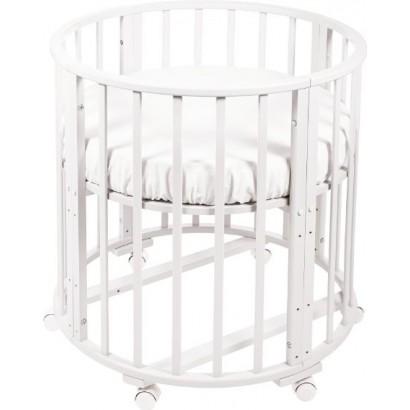 Круглая (овальная) кроватка трансформер Delizia Bianco 8 в 1