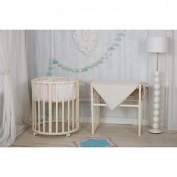 Круглая кроватка трансформер Incanto Mimi Deluxe 7в1