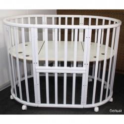 Круглая кроватка трансформер Jakomo Liva 7в1
