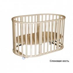 Круглая кроватка-трансформер 6 в 1 Кедр Любаша-5 (с наматрасником)