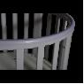 Круглая кроватка Кедр Sofia 4 универсальный маятник на колёсах