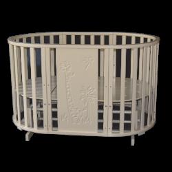 Круглая кроватка-трансформер Кедр Sofia 4 Giraffe маятник универсальный
