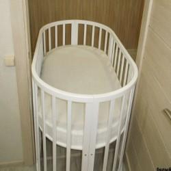 Круглая кроватка трансформер 7в1 Mika Polli 65