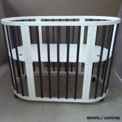 Круглая кроватка трансформер 7в1 Mika Polli 75