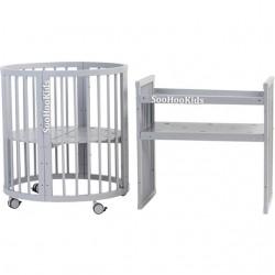 Круглая (овальная) кроватка трансформер Soohookids Сохокидс 8 в 1