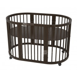 Круглая (овальная) кроватка трансформер Дрёма 6 в 1