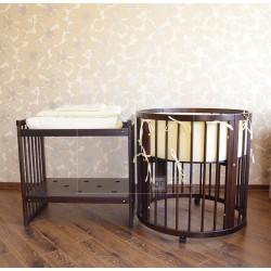 Круглая (овальная) кроватка трансформер Дрёма 8 в 1
