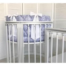 Круглая (овальная) кроватка трансформер Дрёма LUXE 8 в 1