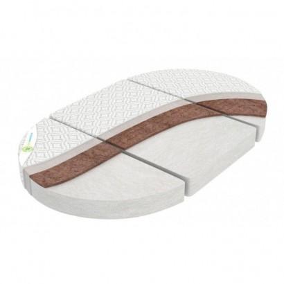 Матрац трансформер 3в1 Наше Солнышко для круглой, овальной кроватки и двух кресел
