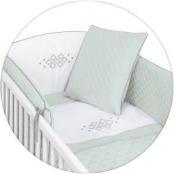 Постельное бельё 5 предметов Ceba Baby CARO с вышивкой