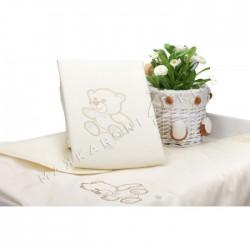 Плед-одеяло Makkaroni Kids Orsetti (Медвежата) 90*90 см