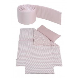 Одеяло с пододеяльником + наволочка + бортики 120х60 Micuna Harmony Etnico TX-1807