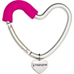 Крепление для сумок Buggygear Сердечко silver/pink