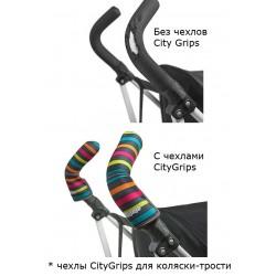 Чехлы Choopie CityGrips на ручки для универсальной коляски 507 Black Leather/черная кожа