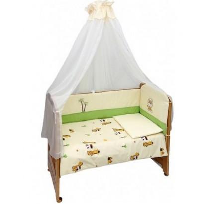 Комплект в детскую кроватку 7 предметов Bombus (Топтыжка) «Веселые друзья»