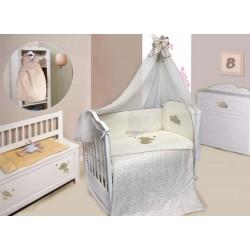 Комплект в детскую кроватку 7 предметов Bombus (Топтыжка) «Милый слоник»