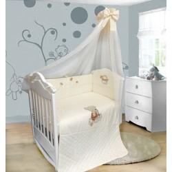 Комплект в детскую кроватку 6 предметов Bombus (Топтыжка) «Мишутка на бревнышке»