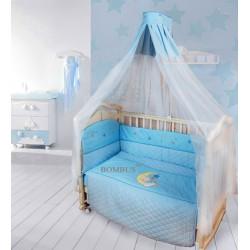 Комплект в детскую кроватку 6 предметов Bombus (Топтыжка) «Мишутка на луне»
