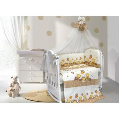 Комплект в детскую кроватку 7 предметов Bombus (Топтыжка) «Мишутки»
