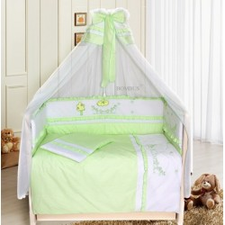 Комплект в детскую кроватку 7 предметов Bombus (Топтыжка) «Веселая семейка»