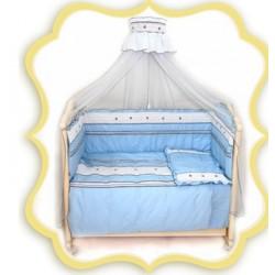 Комплект в детскую кроватку 7 предметов Bombus (Топтыжка) «Любавушка»