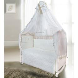 Комплект в детскую кроватку 7 предметов Bombus (Топтыжка) «Ника»