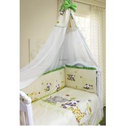 Комплект в детскую кроватку 7 предметов Bombus (Топтыжка) «Панда с друзьями»