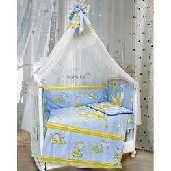 Комплект в детскую кроватку 7 предметов Bombus (Топтыжка) «Слоники»