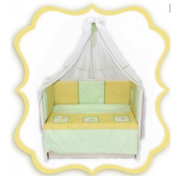 Комплект в детскую кроватку 7 предметов Bombus (Топтыжка) «Цыплята»