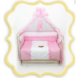 Комплект в детскую кроватку 7 предметов Bombus (Топтыжка) «Юленька»