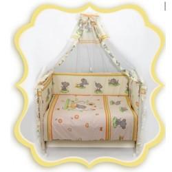 Комплект в детскую кроватку 8 предметов Bombus (Топтыжка) «Слоники»