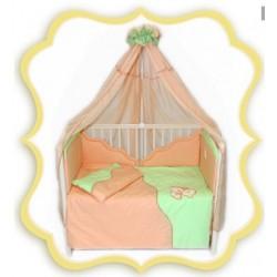 Комплект в детскую кроватку 7 предметов Bombus (Топтыжка) «Тимоша»