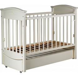 Детская кроватка для новорожденного Наполеон VIP (маятник продольный) 120x60 см