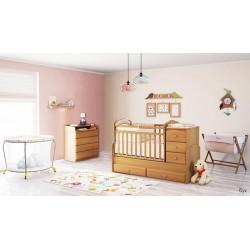 Детская комната для малыша Фея 2 предмета: кровать трансформер маятник 2150 + комод 1580