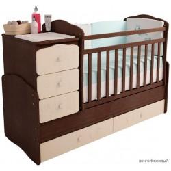 Детская комната Фея 2 предмета: кровать трансформер маятник 2150 + комод 1580