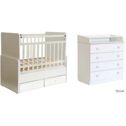 Комната для новорожденного Фея 2 предмета кроватка-трансформер 720 + комод 1580