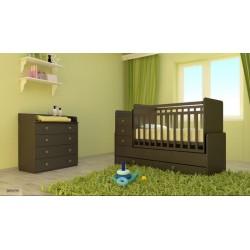 Комната для малыша Фея 2 предмета кроватка трансформер с маятником 1100 + комод 1580