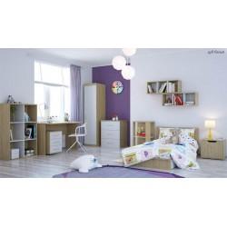 Комната новорожденного Polini (Полини) кроватка-трансформер + шкаф + стол + тумба + полка