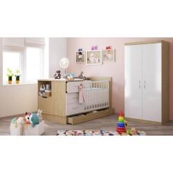 Детская комната Polini (Полини) кроватка-трансформер + шкаф двухсекционный