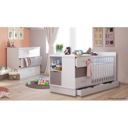 Детская комната Polini (Полини) кроватка трансформер + комод