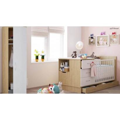 Детская комната Polini (Полини) кроватка-трансформер +пенал