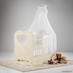 Детская кроватка для новорождённого поперечный маятник Островок уюта Слонёнок