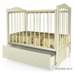 Детская кроватка для новорождённого Можгинский лесокомбинат Кристина продольный маятник ящик