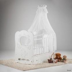 Детская кроватка для новорожденного маятник поперечный Островок уюта Карета